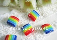 60pcs/lot square Colorful children's buttons / diameter 1.5CM (032)