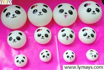 4 styls kawaii mini  panda couple Squishy Cell Phone Charm/bag charm/phone straps/bag pendant,cream/rainbow toppings