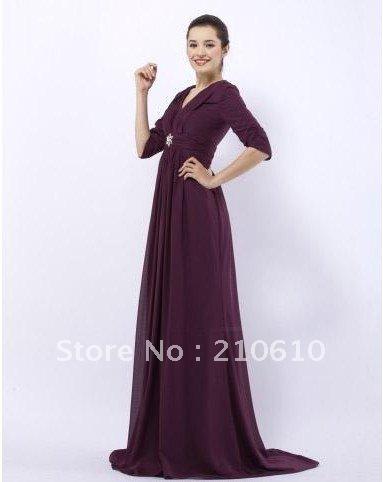 Evening-Dresses-2012-elie-saab-Empire-V-neck-Sweep-Brush-Train-Chiffon ...