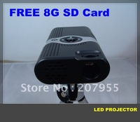 In-Stock  Portable Mini Projector for Mobile Phone + Free 8G SD Card