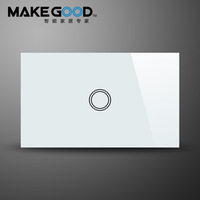 Free shipping,intelligent touch switch & wall switch 1-way with LED indicator& high quality tempered glass panel design