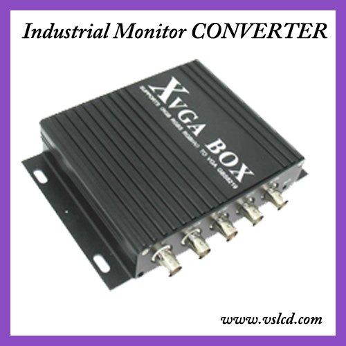 Преобразователь VS RGB, MDA, CGA, ega, VGA GBS8219 new xvga box rgb rgbs rgbhv mda cga ega to vga industrial monitor video converter with us plug power adapter