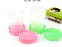 Free shipping 6pcs/lot foldable Drinking Cups mugs Travel /School camping mug cups--Pink/Blue