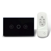 free shipping, USA standard ,wireless remote control dimmer switch & touch switch  1-key  with blue LED indicator