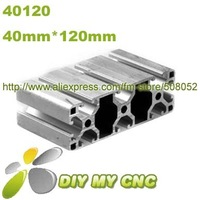 Length=1000mm 40mm*120mm Aluminum Profile D-8-40120 aluminum extrusion profile 6003-T5 material