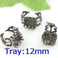 100pcs brass/copper ring base blanks 25mm Crankset Cameo Pad Tray,Antique Bronze Ring base setting,DIY Zakka jewelry Finding