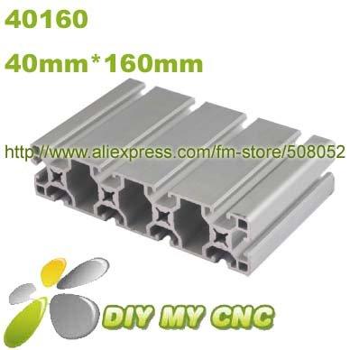 1meter 40mm*160mm Aluminum Profile D-8-40160 aluminum extrusion profile 6063-T5 material(China (Mainland))