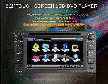 3G USB HOST!Indash Car DVD for TOYOTA RAV4 COROLLA (2004-2006) Previa VIOS HILUX Prado Terios Land Cruiser built in GPS system!