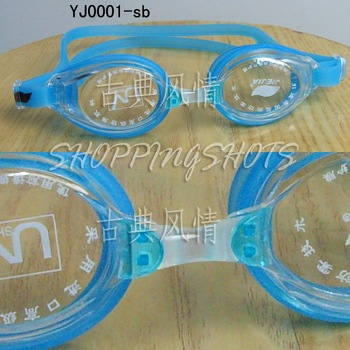 Non-Fogging Swim Goggles Soft Eye Cups Kids & Adult Swimming Goggle sky yj001  free shipping