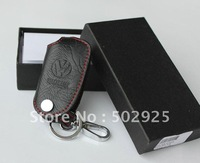 free shipping Volkswagen VW GOLF JETTA TIGUAN POLO PASSAT leather auto / car Key case ( key chain / key bag) for remote control