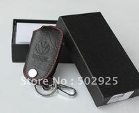 free shipping Volkswagen VW GOLF JETTA TIGUAN POLO PASSAT leather auto / car Key case ( key chain / key bag) for remote control