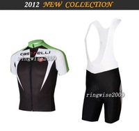 Free Shipping!! MEN'S 2012 NEW CASTELLI TEAM CYCLING JERSEY+BIB SHORTS BIKE SETS CLOTHES SIZE:XS-4XL& Wholesale/Retail