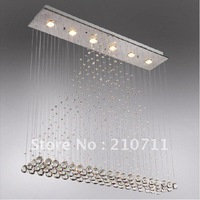 Free shipping,Modern crystal chandelier,dining room crystal lighting,pendant lamp,L1000*W200*H1000mm  GU10*6