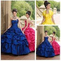 Free Shipping Long Taffeta Quinceanera Dresses 2011 Wholesale