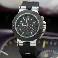 Rubber belt B-I-014 C. Gold shell white flour watch watch