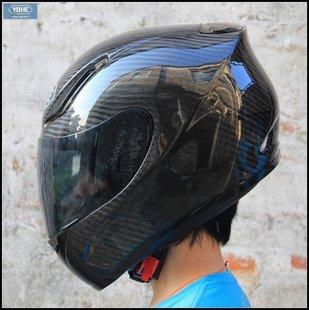 YH-991 Carbon fiber material XS-XXL 52-63cm COOLMAX liner full face helmet motorcycle helmet