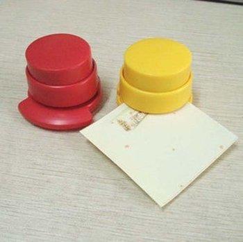 mini cute stapleless stapler, Stapler book sewer stitcher , staples free for punch stationary office supplier Free shipping