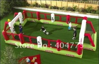 Commercial quality inflatable football field pitch for kids HSP01