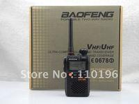 2pcs/lot UV-3R Dual Band FM Transceiver+2pcs Earpiece Free+2pcs Microphone Free+DHL Free Shipping