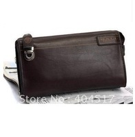 Cow leather wallet.men hand bag.free shipping!