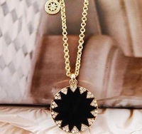 Цепочка с подвеской Min order is 15USDAmazing Black Gold Simply Geometry Necklace, 2012 Fashion Statement Necklace