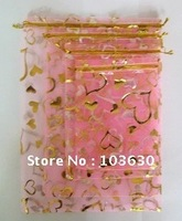 13x18cm Organza Jewelry gift Pouch Bags Medium size hearts/dry flower bag/cosmetic bags( SH-BZD #010 )Free Shipping !!!