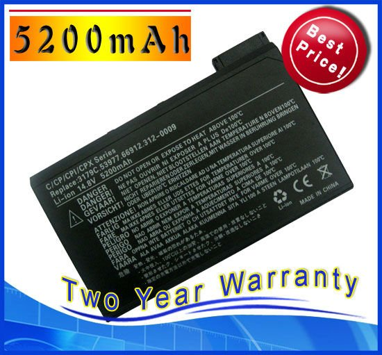 5200mAh Battery for Dell Latitude CPI CPIA CPIC CPID CPIR CPM CPT CPTV CPX PP01 PP01X PP01L CPXH CPTS 8208U 851UY(China (Mainland))