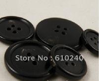 50pcs/lot (wh-044) natural real horn button black suit button 15mm