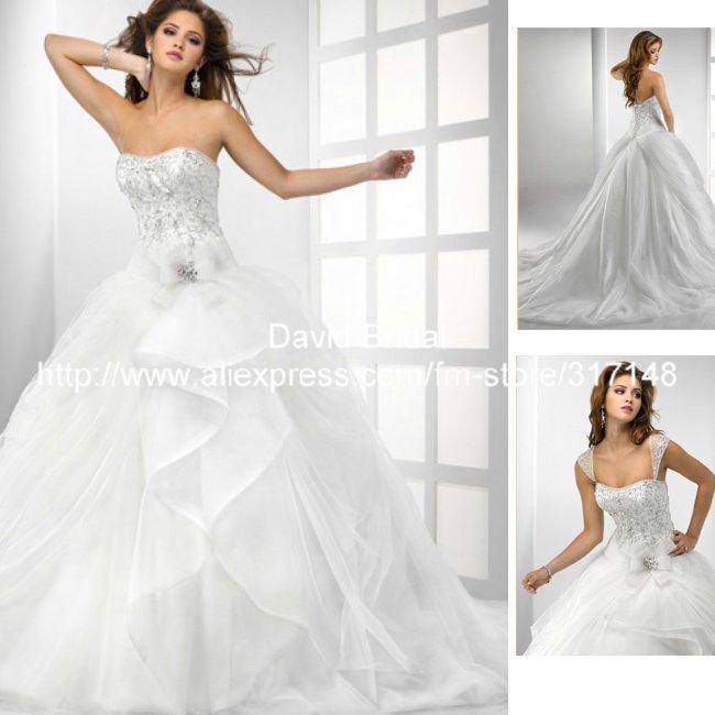 Ball Gown Wedding Dresses Corset Top 116
