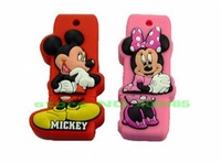 wholesale  Free shipping  4GB Mickey Mouse USB 2.0 Flash Drive Fashion Silicon Cover Pen drive