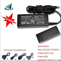 for HP V5000,DV1000,etc,AC adapter 18.5V 3.5A 65W,free shipping,wholesale 100% Guarantee brand new,free power cord