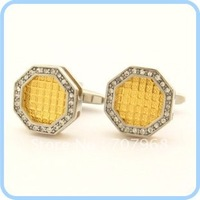 Temperament sleeve was HuangGe gold inlaid BaBianXing man cufflinks
