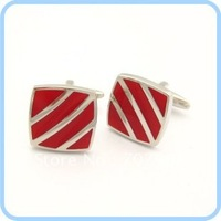 Fashionable, elegant sleeve nail sapphire blue silver inclined stripe man cufflinks