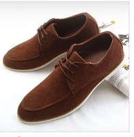 Classic grind arenaceous men's shoes head layer 2011 qiu dong main hand stitched leisure shoes