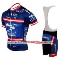 Free shipping+Polyester +COOLMAX+UNITED STATES POSTAL SERVICE Cycling Jersey+BIB SHORTS Bike Sets Clothes Cycling wear/bike wear