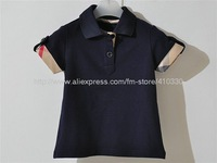 Summer clothing popular T-shirt wholesale / fashion lapel with short sleeves of leisure T-shirt/the boy's short sleeve T-shirt