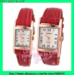 Best price!! Brand watches Roman numberal style Men women Lover's watch 1 year warranty dress wristwatches 5pairs/lot W8116G(China (Mainland))