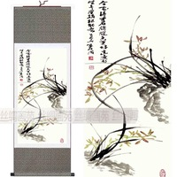 Free Shipping 100% 100*30 Chinese Silk Scroll Masterpiece Indoor Painting FN007 for home decoration,New Arrival,Freeshipping