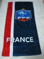 france  beach towel /fans  rectangle cotton bath towel  / big bath towel