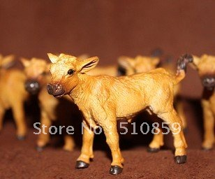 The farm scene model simulation move furnishing articles of farm animals brown calf