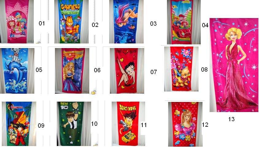 Wholesale - - NEW Top quality bikini girl kids' Beach towels robes ...