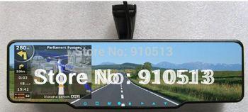 Arena 8500 Car rearview mirror+inserted GPS+HD 720P DVR recorder+radar detector+bluetooth talk+Parking camera