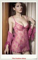 FREE SHIPPING Hot Sale Sexy Lingerie Set Sleepwear Robes Baby Dolls NA2211 Size M/XXL Purple