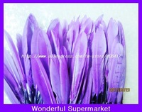 800pieces/lot wholesale natural goose feather  10cm-15cm purple color for diy feather earring