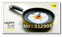 Hot sale creative wall clock fried eggs pan shaped clock different colors to choose 1pc