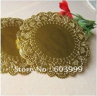 250x 13.5inch Gold Paper Doilies Doyleys,Gold Doileys , Foil Paper Doily, Table Decotations, Free Shipping
