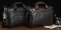 men's bag genuine leather business shoulder/messenger bag brief case laptop bag hot seller