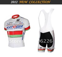 Free Shipping!! MEN'S 2012 NEW KATUSHA BELAR TEAM CYCLING JERSEY+BIB SHORTS BIKE SETS CLOTHES SIZE:XS-4XL&Wholesale/Retail