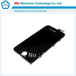 Mobile Phone LCD Screen Display + Touch Screen Digitizer cover for iphone 4g Black assembly free shipping(China (Mainland))
