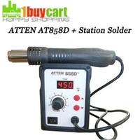 ATTEN AT 858D SMD Hot Air Rework Station Hot Blower Hot Air Gun Heat Gun free shipping